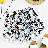 Han Shi Womens Hot Sale Boho Print Shorts Mid Waist