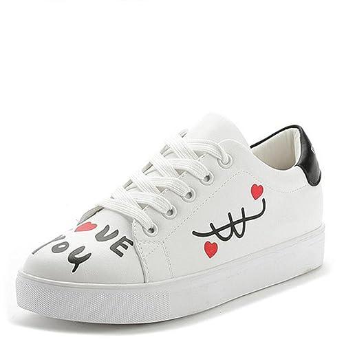 9ee96308d L YC Mujer Zapatos Planos en la Primavera Zapatos Blancos con Zapatos de  Mujer Casual Joker Blanco  Amazon.es  Zapatos y complementos