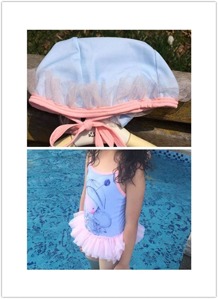 Toddle Cartoon Baby Girls Flower Flounced One Piece Tankini Swimsuit Swimwear