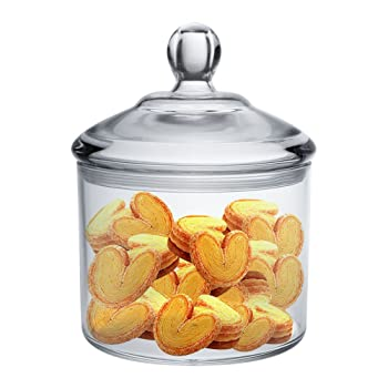 Vinkoe Kitchen Clear Cookie Jar