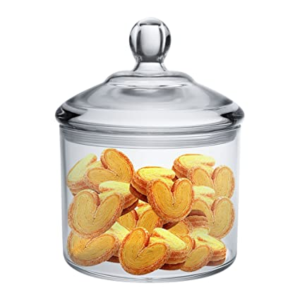 Airtight Cookie Jar Extraordinary Amazon Vinkoe Kitchen Cookie Jar Clear Acrylic Airtight Jar