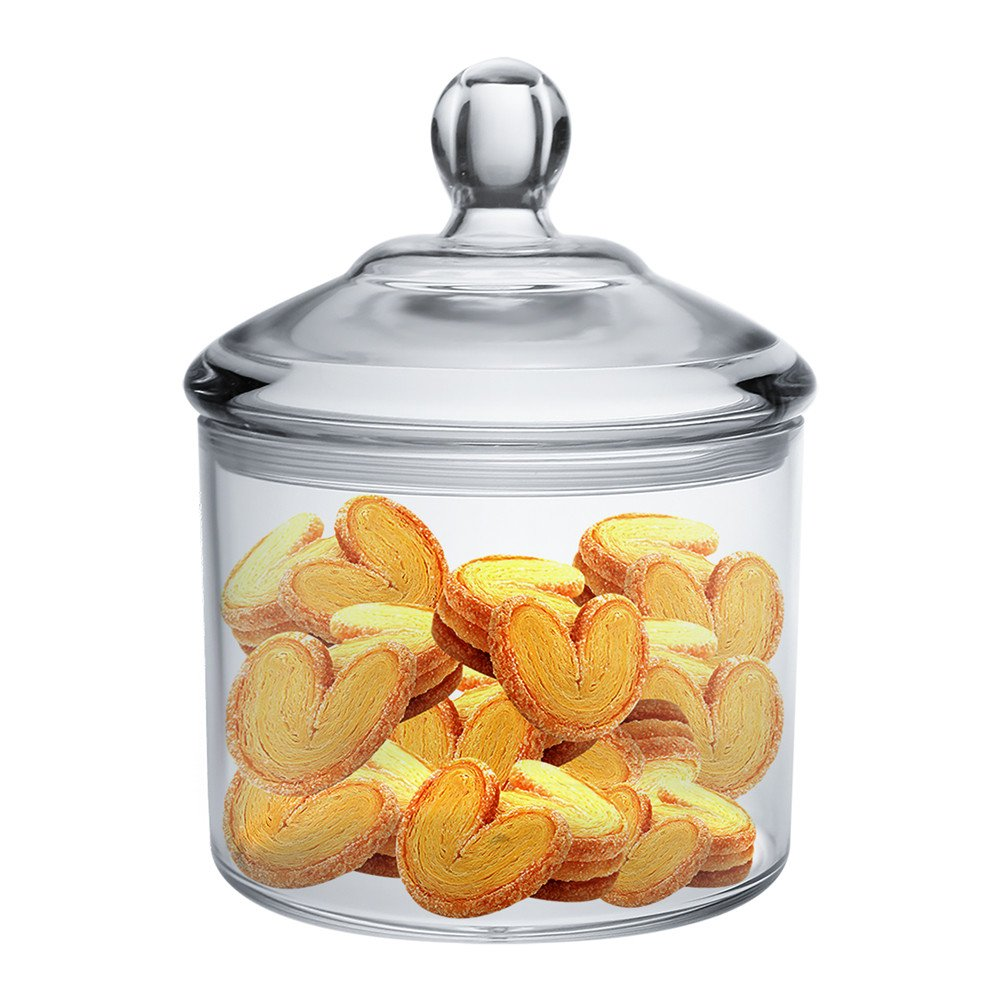 Vinkoe Kitchen Cookie Jar, Clear Acrylic Airtight Jar for Nuts, Cookies, Candy, Chocolate, 40 OZ