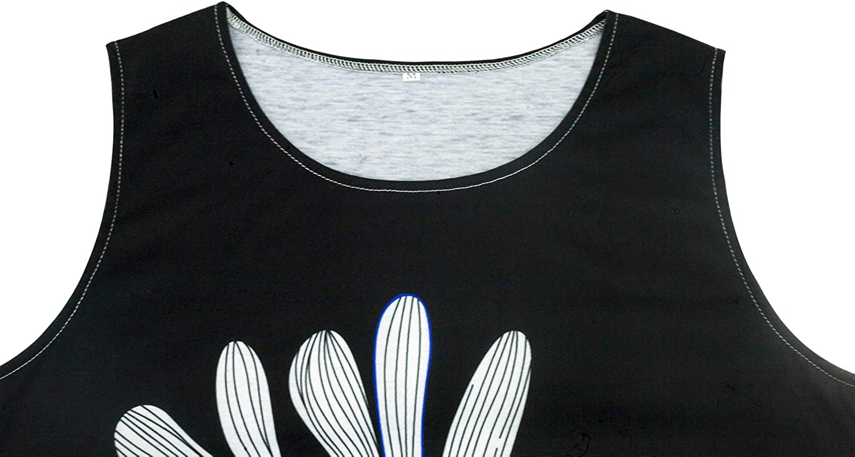 GREMMI Casual da Donna Estate Stampa Slim Senza Maniche Canotte Spiaggia Mini Vestito