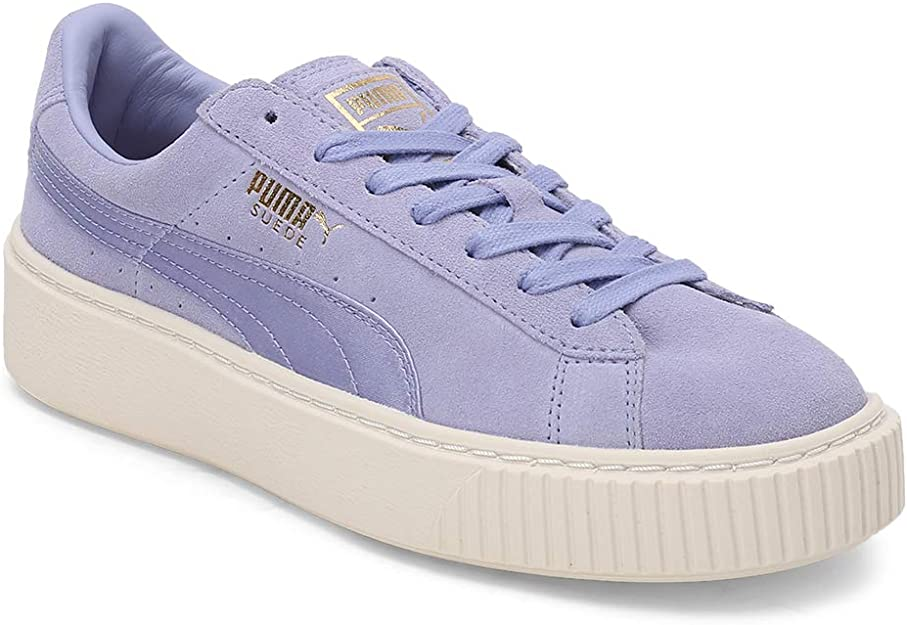 puma suede platform mono satin w shoes