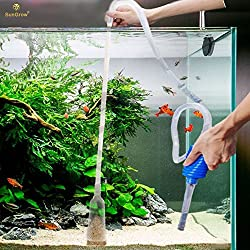 SunGrow Aquarium Cleaning Pump Kit: BPA Free : Easy-to-Use: No spill, Tank Cleaner : Pet-friendly : Long Nozzle Feature - Perfect for Cleaning and Changing Water in Tank