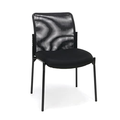 OFM ESS Collection Mesh Back Upholstered Armless Side Chair