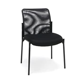 Essentials Mesh Upholstered Stacking Armless Guest Reception Chair