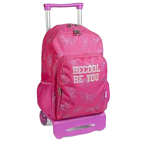 Mochila Escolar Doble Carro Ruedas BECOOL by DIS2