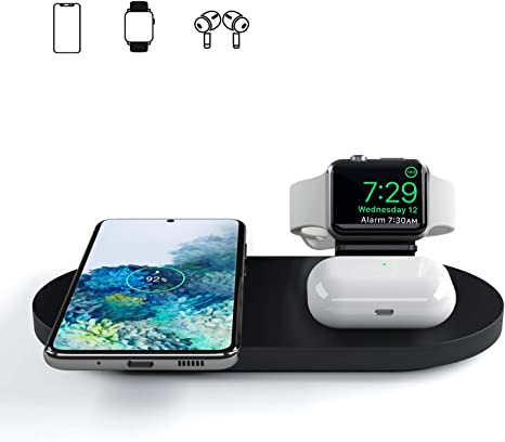 seacosmo 3 in 1 Wireless Charger Stand for Apple Watch