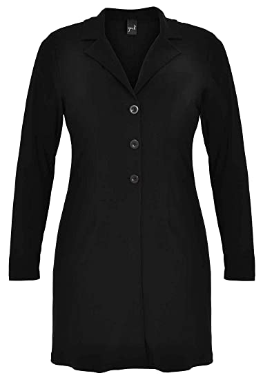 60ce71a7398 Yoek Women s Plus Size Blazer Long Curve  Amazon.co.uk  Clothing