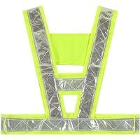 Tinksky Chaleco de seguridad reflectante ajustable de alta