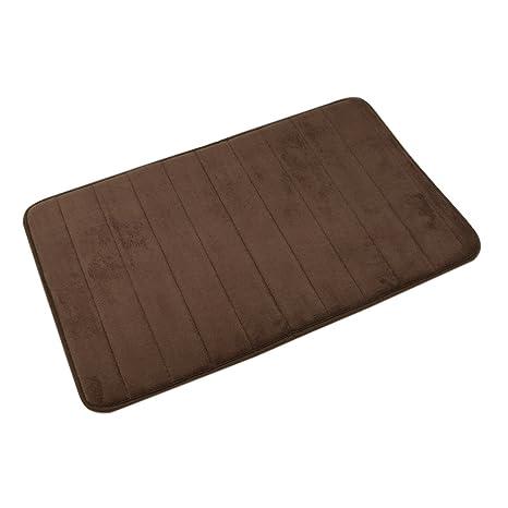 Tyaya tela de terciopelo Coral de espuma de memoria baño antideslizante alfombra alfombra de baño 20