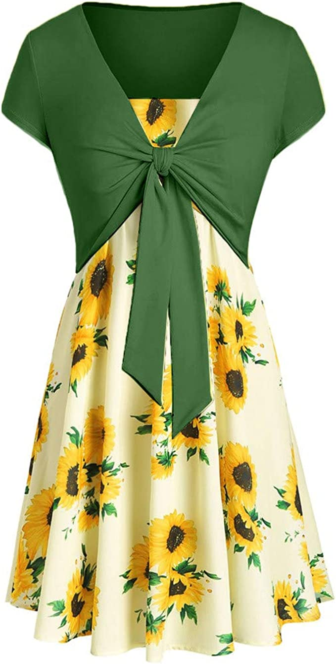 Giulot Womens Plus Size Strap Pleated Mini Dress Lace Up Backless Beach Dress Short Spaghetti Straps Sundress for Women