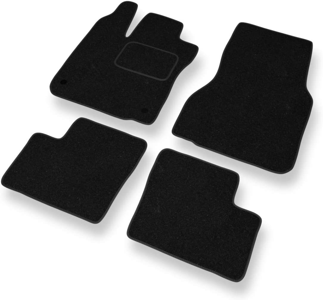 Noir 5902538789141 Set de 4 Tapis de Pieds Mossa Tapis de Sol Velours Tapis Automobiles