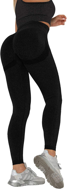 SLIMBELLE Scrunch Butt Lifting Leggings for Women High Waist Yoga Pants Gym Workout Tights Smile Contour Seamless Leggings