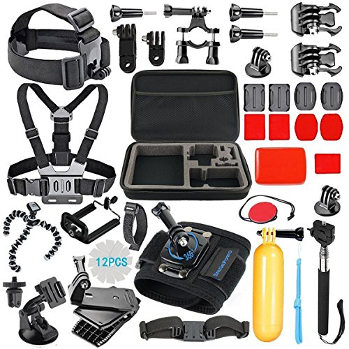 #Rankboosterreview #sponsered # SmilePowo Sports Action Camera Accessory Kit for GoPro Hero6,5 Black, Hero 5,4,3,2,1,Session,GoPro Fusion,DBPOWER,AKASO,APEMAN,SJ CAM,XIAO YI ,2,Sony ,Sports Camera Price: $23.99
