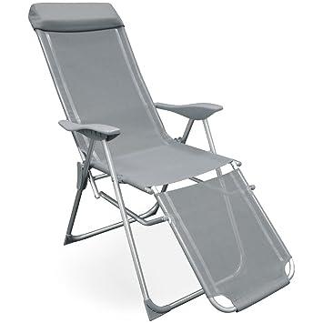 Folding Zero Gravity Sun Lounger Chair Recliner Garden Sun Deck Bed Reclining UK