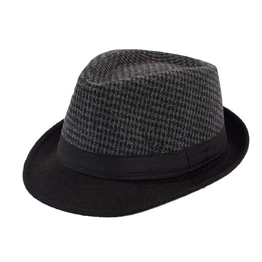 KFEK Classic England Sombreros y Gorras para Hombres Gorra de Jazz ...