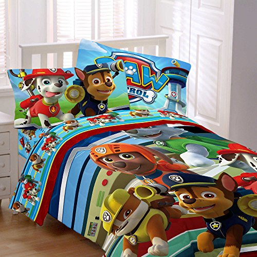 Nickelodeon Paw Patrol Twin/Full Reversible Comforter with 4-Piece - Mario House Shoes