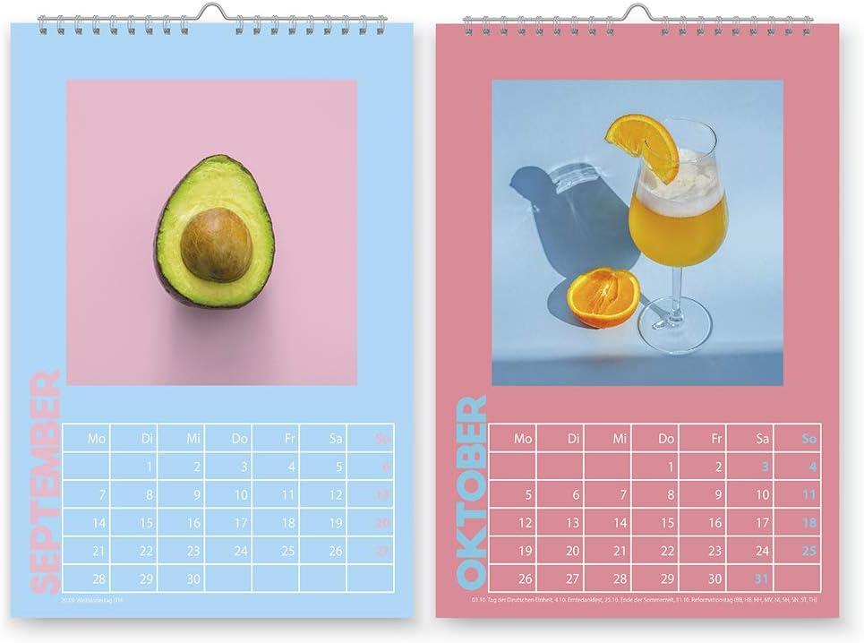 42thinx Foto Jahreskalender Wandkalender Din A4 f/ür 2020 I Bilder Kalender zum Aufh/ängen mit Spiralbindung I Dekoration Kalender zum Verschenken I Wandkalender Design Katzen mit Charakter
