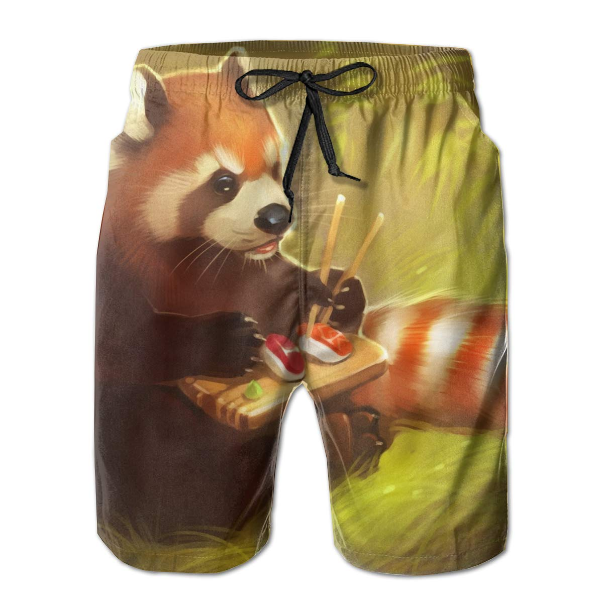 White AQ Red Red Red Panda Bear Mens Printed Swim Trunks Quick Dry Board Shorts Casual Athletic M-XXL 0b66d0