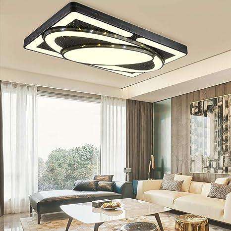 MIWOOHO 90W Warmweiß LED Deckenleuchte Modern Deckenlampe Schlafzimmer Flur  Wohnzimmer Lampe Wandleuchte Energie Sparen Licht [Energieklasse A++]