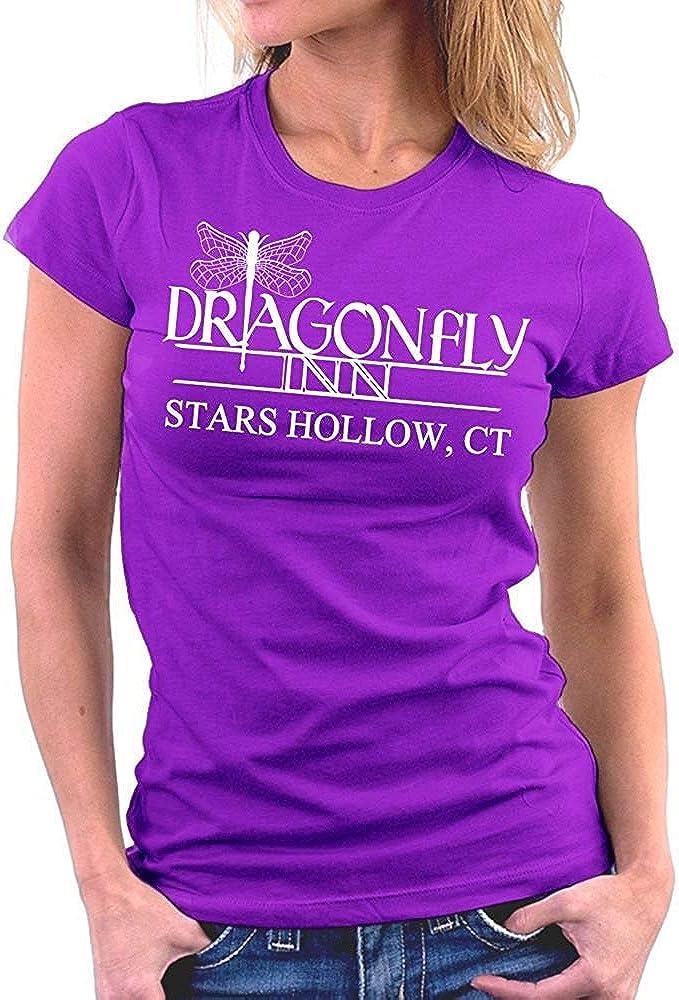 KLING Camiseta básica con Cuello Redondo de Gilmore Girls Dragonfly Inn para Mujer: Amazon.es: Ropa y accesorios