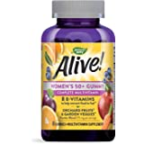 Boericke & Tafel Nature's Way Alive Women's 50+ Multivitamin Gummies FoodBased Blend 75mg per serving Gluten Free Made with P