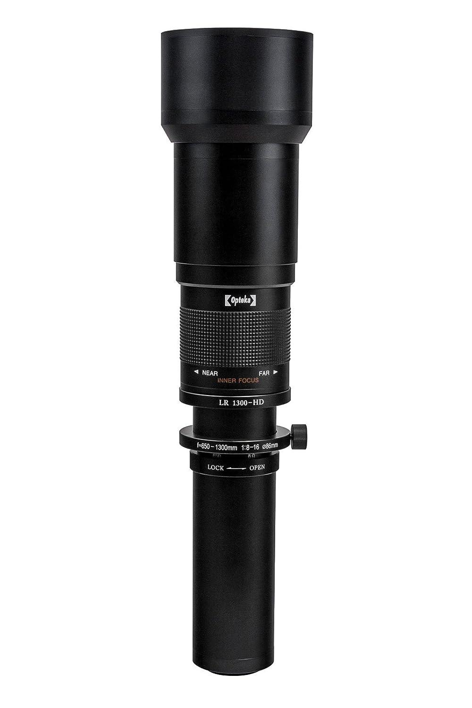 Opteka 650 – 1300 mm f / 8 HD望遠ズームレンズfor Canon eos-m m100、m10、m5、m6 m3コンパクトデジタルミラーレスカメラ(ブラック) B00RN9B8TS
