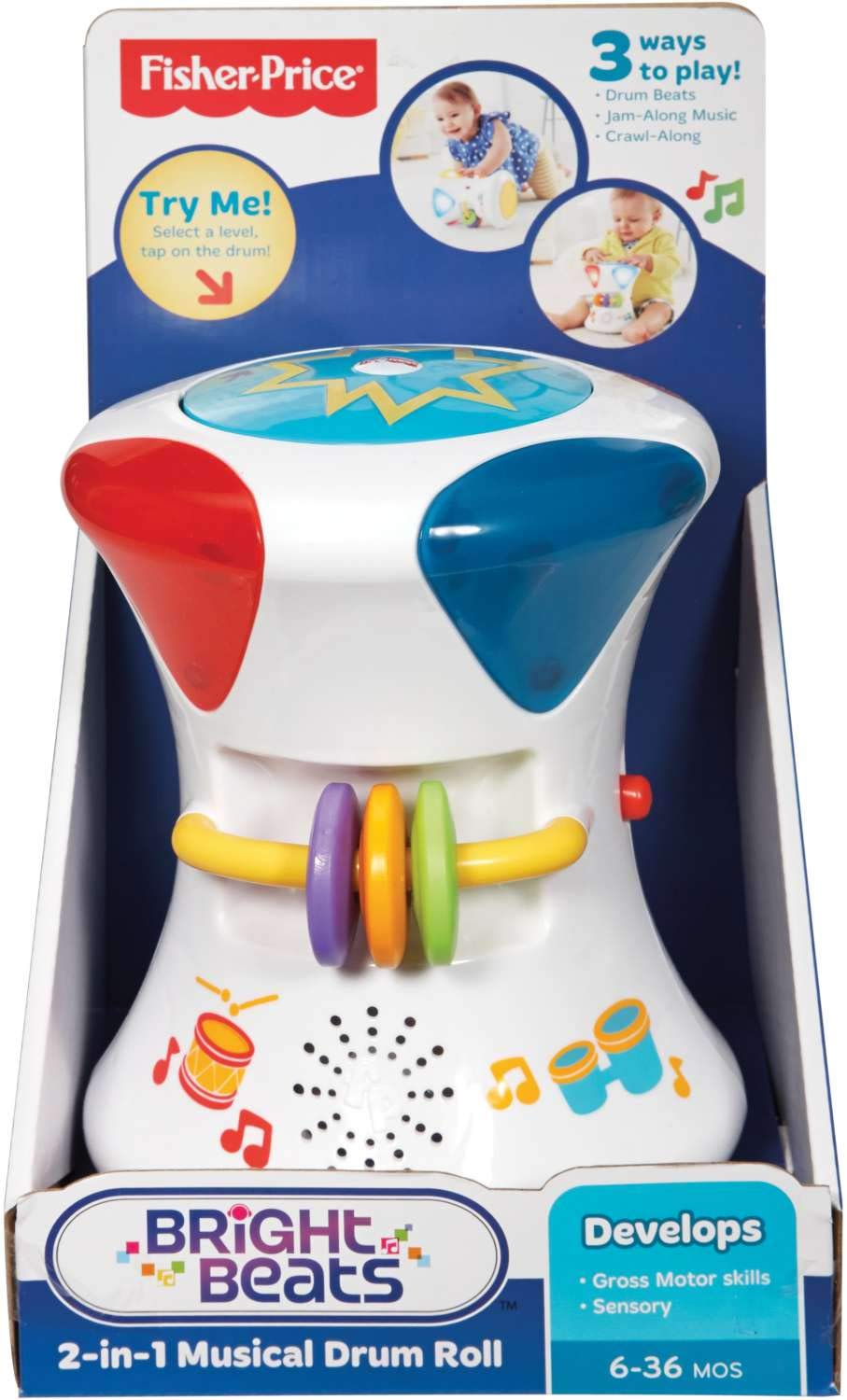 Fisher-Price-Cfn02 Disney 2 In 1 Musical Drum Roll, (Mattel Spain 25CFN02): Amazon.es: Juguetes y juegos