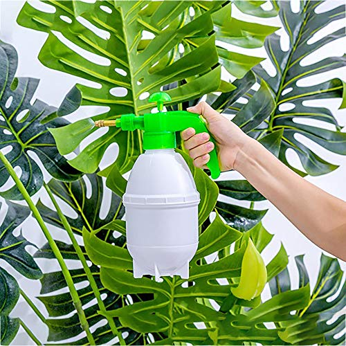 (Gotian 800ML Watering Bottle Portable Pressure Watering Can Garden Plant Spray Bottle - for Watering Plants, Hanging Baskets, Greenhouse and Home use - Watering Bottle(28X11cm) (Green))
