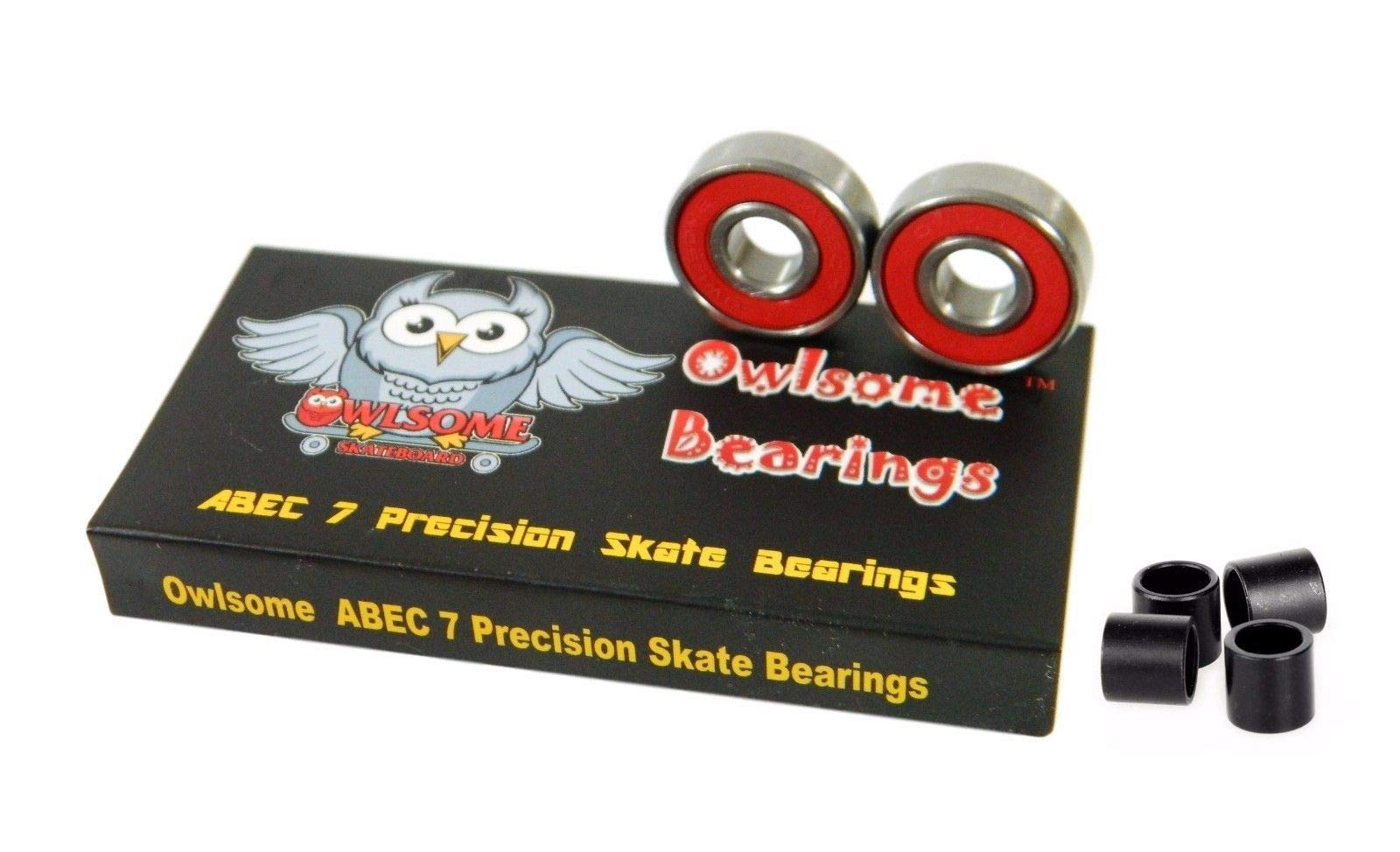 ABEC 7 Precision Skateboard Longboard Bearings with 4 Spacers
