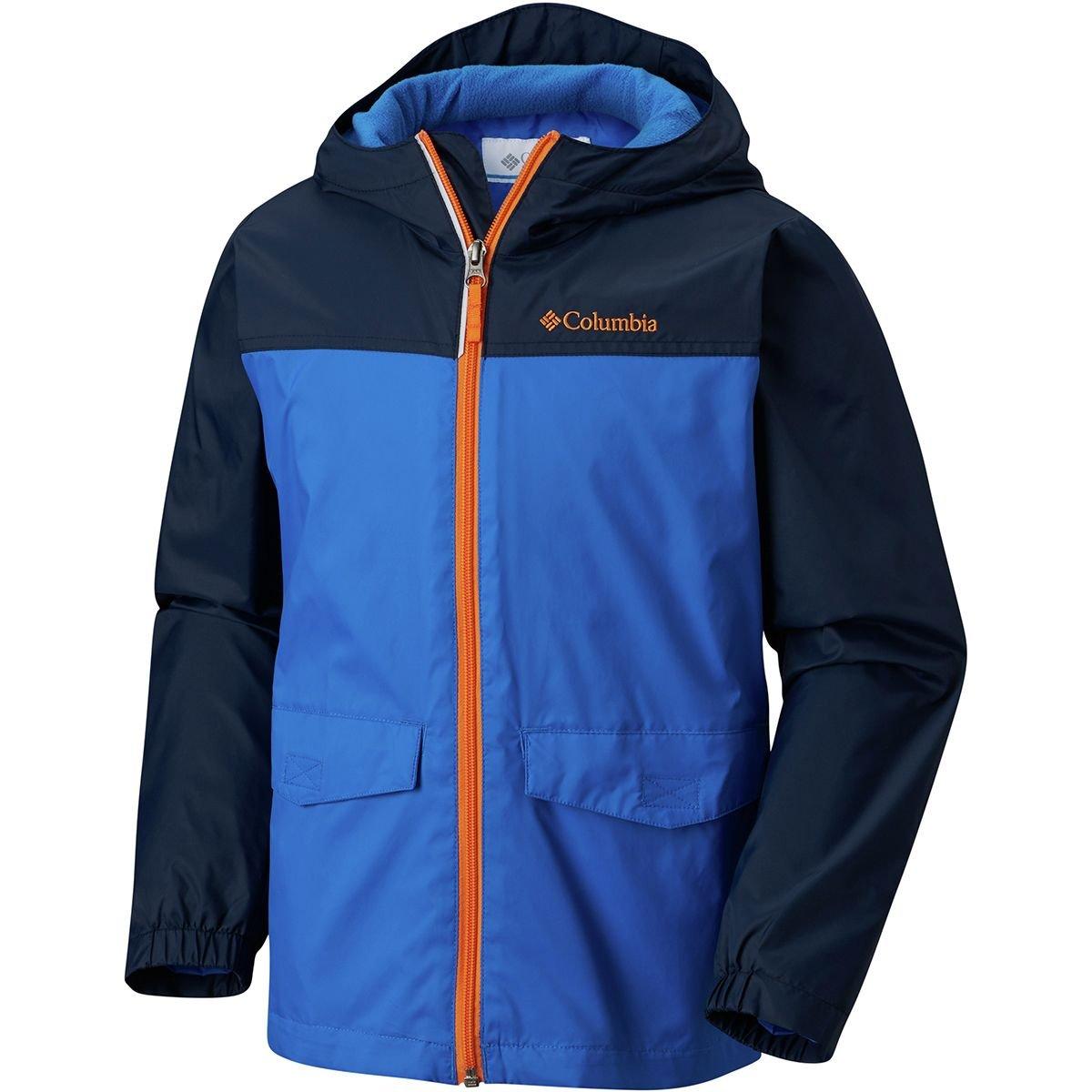 Columbia Big Boys' Rain-Zilla Jacket, Super Blue, Collegiate Navy, Medium