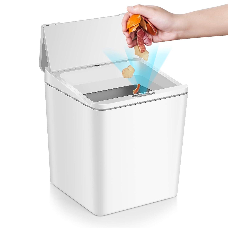 2L Mini Auto Open Close Waste Bin Sensor Garbage Can No Touch Trash Can