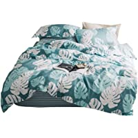 GOOFUN 3 Piece Quilt Cover Set, Super Soft Duvet Cover Set Includes 2 Pillowcases