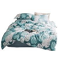 GOOFUN 3 Piece Quilt Cover Set, Super Soft Duvet Cover Set Includes 2 Pillowcases