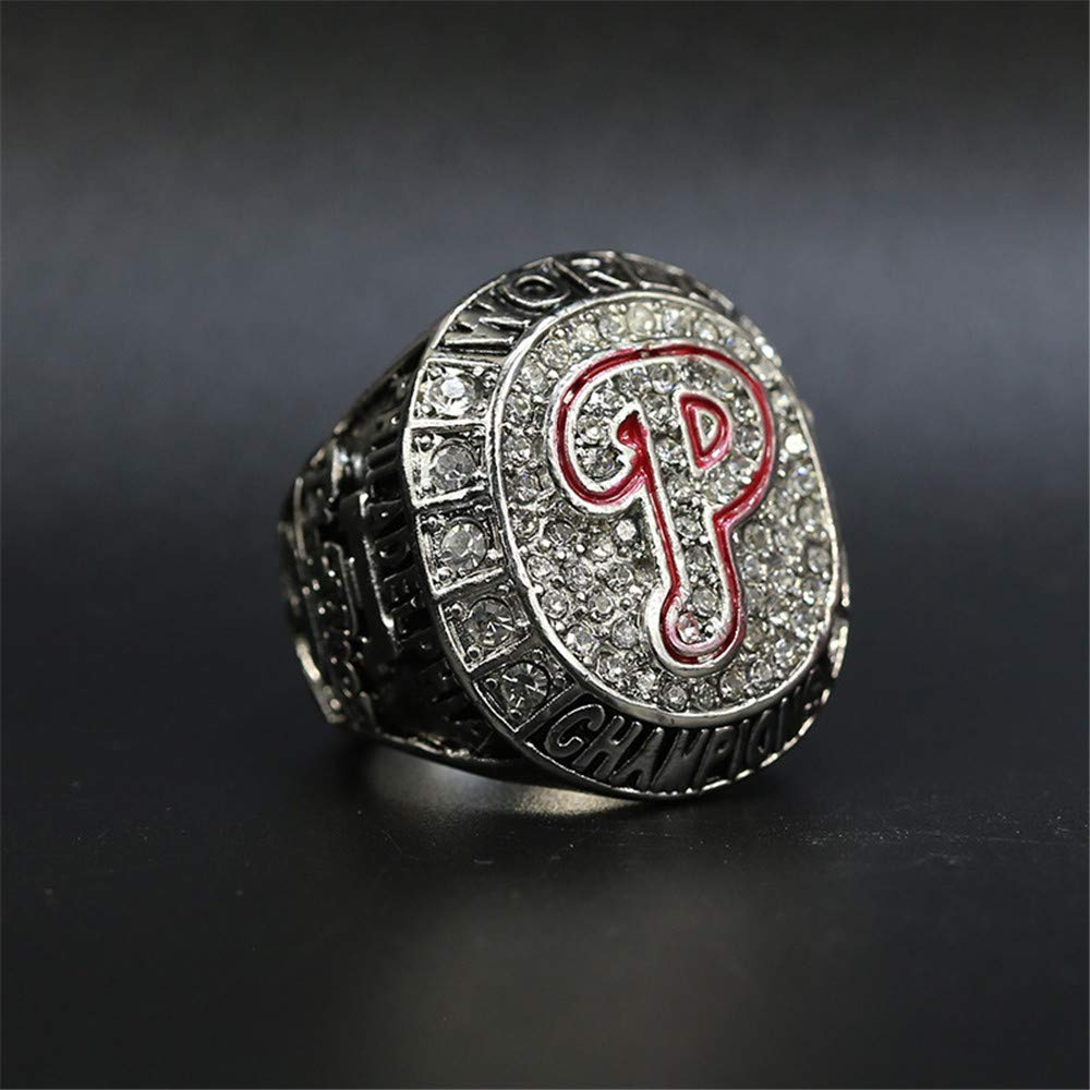 2008 Philadelphia Phillies Replica Rings Alloy Cubic Zirconia Jewelry for Sports Fan Size 11 Championship Ring for Man