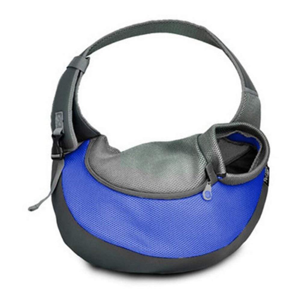 Pet Bag Out Over Shoulder Bag Portable Storage Cat Bag Messenger Bag Outdoor Travel Cat Dog Pet Backpack Supplies 20  35  8.5cm Multi-color Optional (color   bluee, Size   20x35x8.5cm)