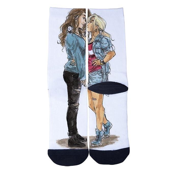 Image of: Images Dihaodedia Cute Lesbian Drawings Socks Mens Womens Multi Performance 3d Print Custom Crew Socks Black Amazoncom Dihaodedia Cute Lesbian Drawings Socks Mens Womens Multi Performance