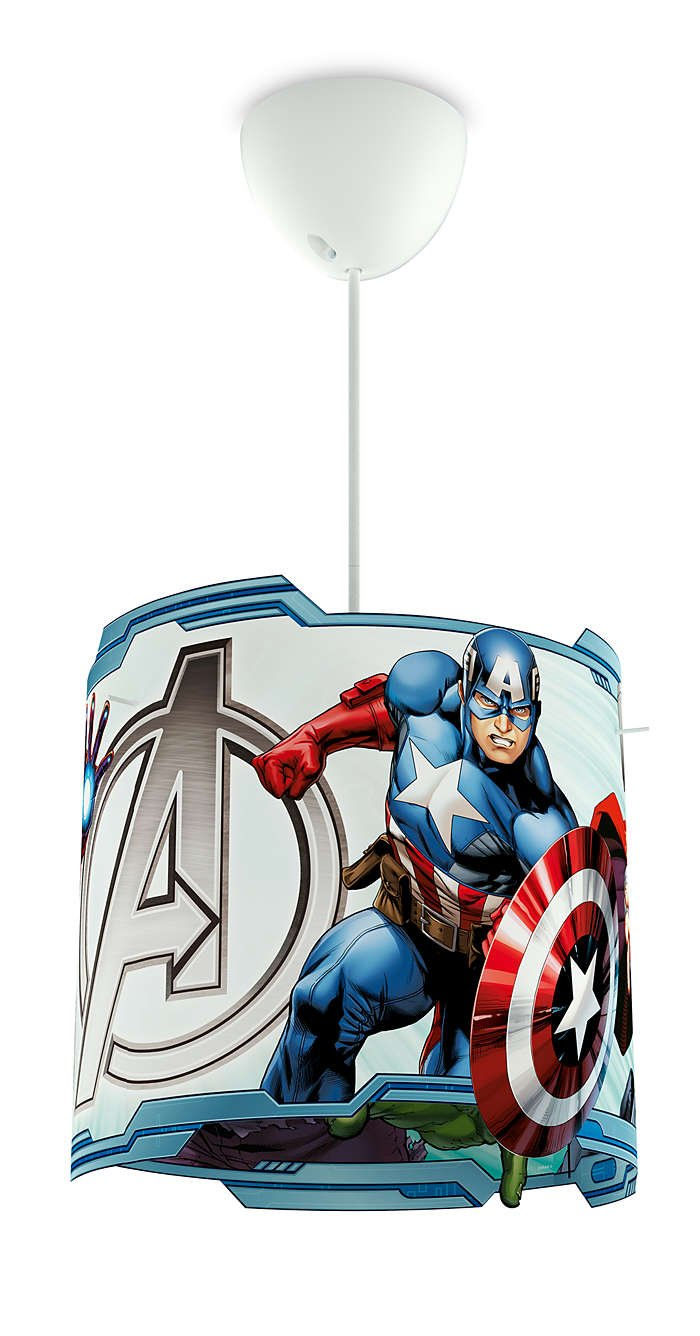 Philips Marvel Avengers LED Pendelleuchte, blau 717513516: Amazon.de ...
