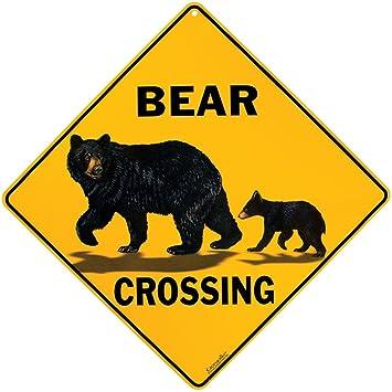 amazon co jp bear crossing sign ホーム キッチン
