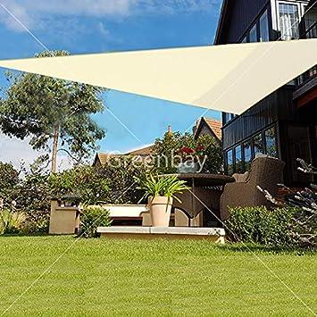 Greenbay 98/% UV Block Sun Shade Sail Yard Party Sunscreen Awning Canopy for Outdoor Patio Garden Swimming Pool Balcony Rectangle Terracotta 5x4M