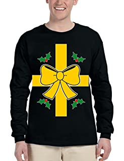 Allntrends Adult Sweatshirt Christmas Gift Wrap Ugly Xmas Sweater Funny
