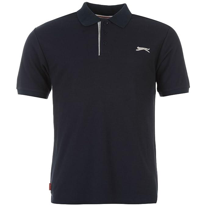 Slazenger Hombre Camisa Polo Plana Manga Corta: Amazon.es: Ropa y ...