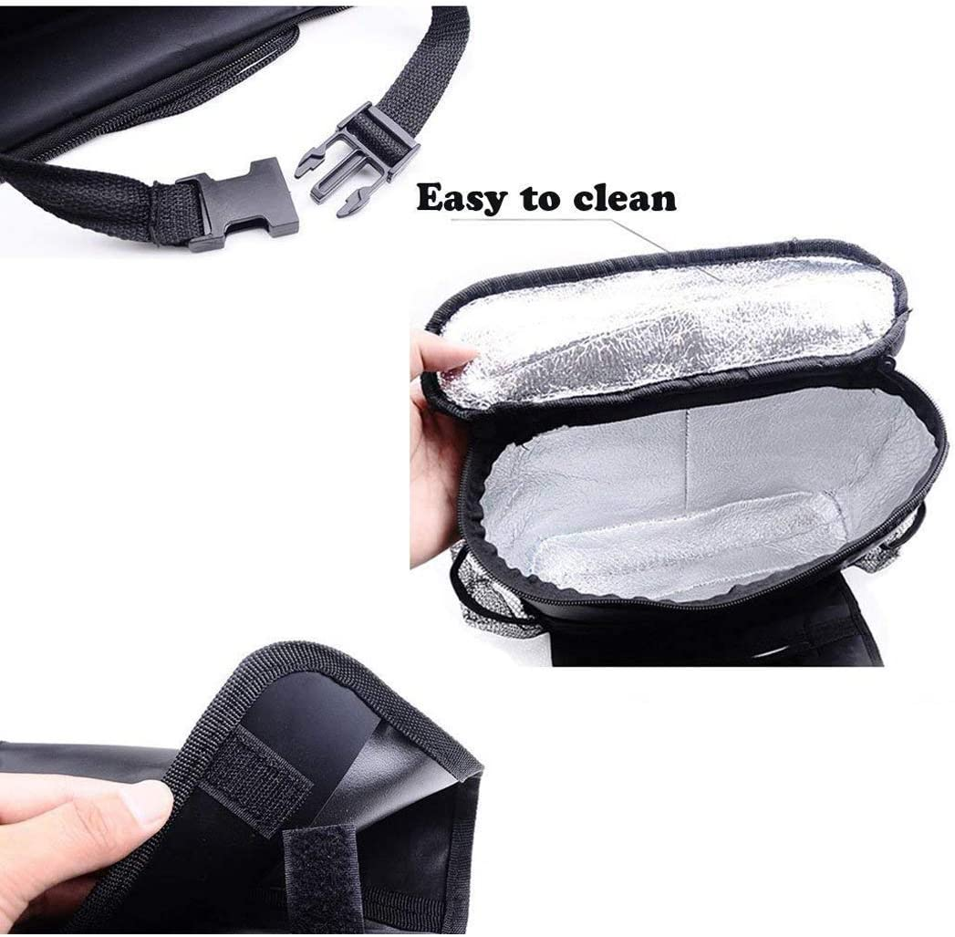 Lvcky Durable Wear-Proof Multi-Pocket Insulation Standard Car Seat Back Bag Multi-Pocket Travel Storage Bag Organizer for Personal Cars Heat-Preservation