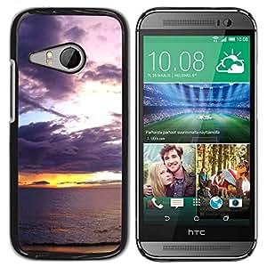 Paccase / SLIM PC / Aliminium Casa Carcasa Funda Case Cover para - Sunset Sea Ocean Romantic Nature Summer - HTC ONE MINI 2 / M8 MINI