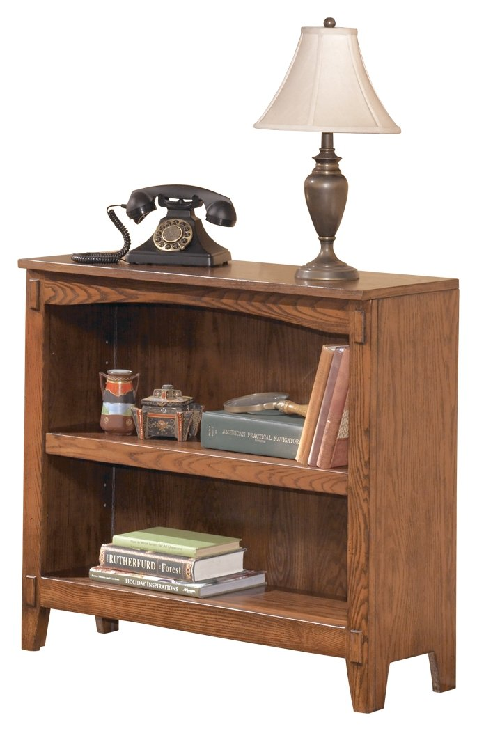 Ashley Furniture Signature Design - Cross Island Bookcase - 1 Adjustable Shelf - Vintage Casual - Medium Brown Oak Stained Finish