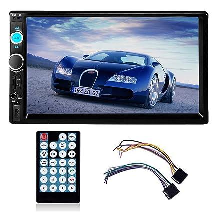 PolarLander Auto Radio Autoradio Bluetooth, Manos Libres Radio Estéreo de Coche, Apoyo de Reproductor MP3, Llamadas Manos Libres, Función de Radio y ...