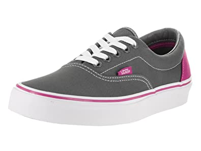43b2b620ac Image Unavailable. Image not available for. Color  Vans Heel Pop Era Pewter fuchsia  RED ...