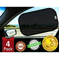 kinder Fluff Car Window Shade (4px) - The Only Certified Sunshade Proven to Block 99.79% of UVA and 99.95% of UVB - (Mom…